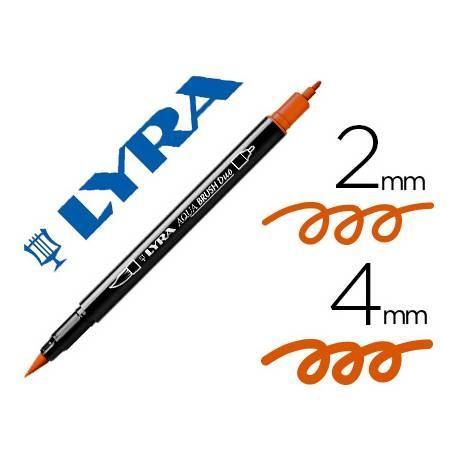 Rotulador Lyra Aqua Brush Duo Naranja Permanente