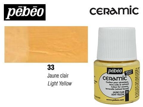 PEBEO CERAMIC 45 ML N. 33 AMARILLO CLARO