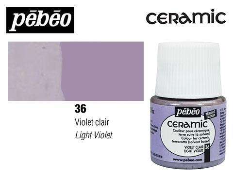 PEBEO CERAMIC 45 ML N. 36 VIOLETA CLARO